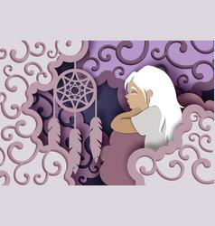 sweet dreams in paper art vector image