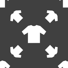 t-shirt icon sign Seamless pattern on a gray vector image