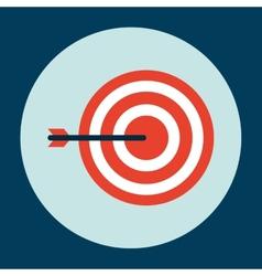 target arrow design vector image
