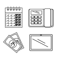 tax return time set icons vector image