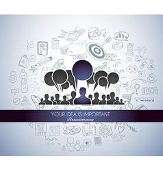 Teamwork Brainstorming communication concept art vector image