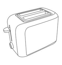 Toaster icon vector