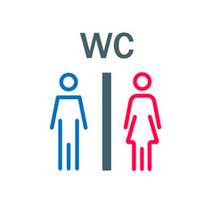 toilet signs on white background door indication vector image