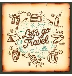 Travel blog adventure blogging online vector