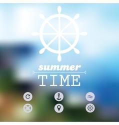 Travel - Blurred Background vector image