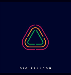 triangle color template vector image