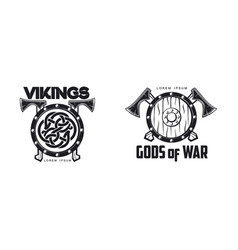 Vikings icon logo simple flat isolated vector