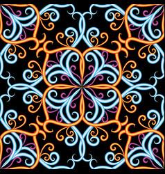 vintage damask 3d seamless pattern ornamental vector image