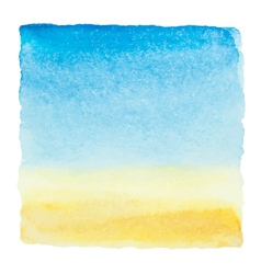 Watercolor blue sky and clouds background vector