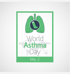 world asthma day icon vector image