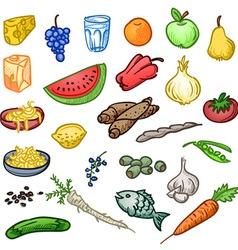 Fresh Healthy Food vector image vector image