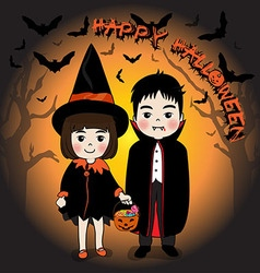 Happy Halloween and young vector image