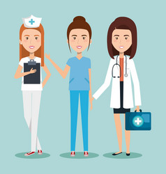 healthcare professionals design vector image