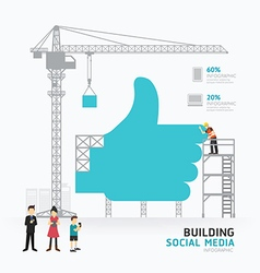 Infographic business hand like symbol shape templa vector image vector image