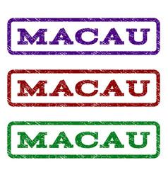 Macau watermark stamp vector