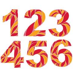 Numeration decorated with seasonal orange autumn vector