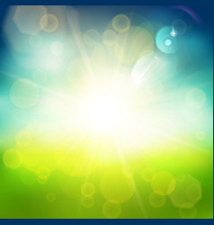 shiny blue and green background vector image vector image