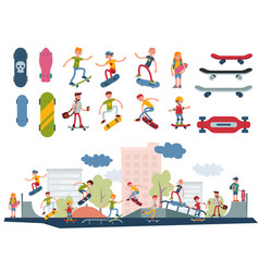 skateboarder active people park sport extreme vector image