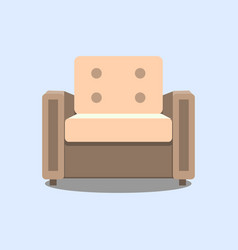 armchair colorful armchair icon for your vector image