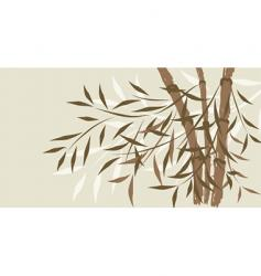 decorative bamboo vector image vector image