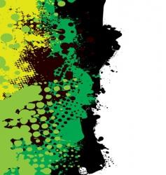 grunge green splat vector image vector image