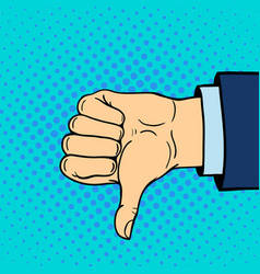 hand showing thumbs down deaf-mute gesture human vector image