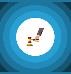 Isolated court flat icon crime element can vector