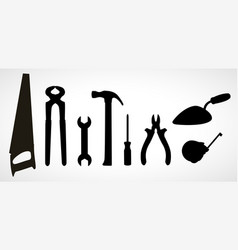 set of icons of building tools vector image