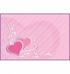 card hearts vector image vector image