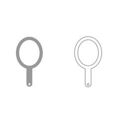 hand mirror it is black icon vector image vector image