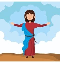 Jesus christ religion vector image vector image