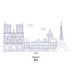 paris city skyline vector image