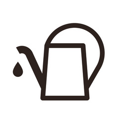 watering can symbol vector image vector image