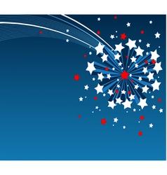American starburst background vector image vector image