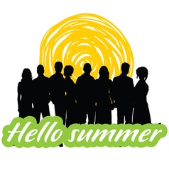 hallo summer with people vector image vector image