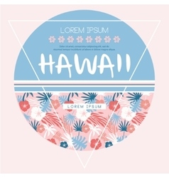 Hawaii country club print vector image