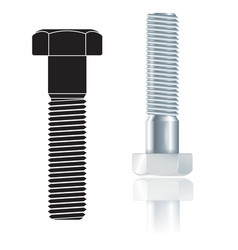 screw bolt vector image vector image