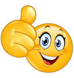 thumb up female emoticon vector image vector image