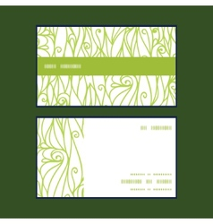 abstract swirls texture horizontal stripe frame vector image
