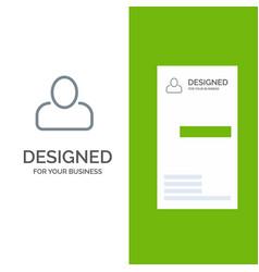 Administrator man user grey logo design vector
