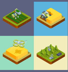 agriculture concept smart farming processes vector image