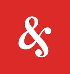 Ampersand font script logo icon elegant vector