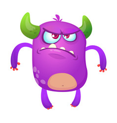 angry cartoon monster for halloween vector image