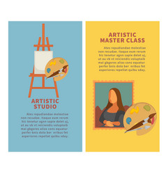 artist studio paiting materials and creative art vector image
