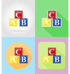 baby flat icons 16 vector image