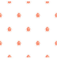 Beetle rose gold and white seamless pattern vector