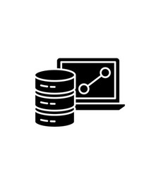 big data framework black icon sign on vector image
