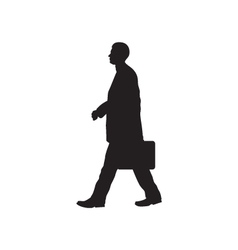 Black silhouette of the person with a briefcase vector image