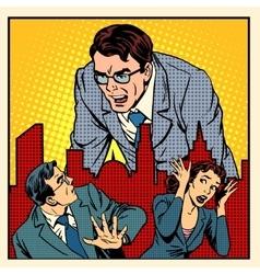 Boss anger work office business concept vector