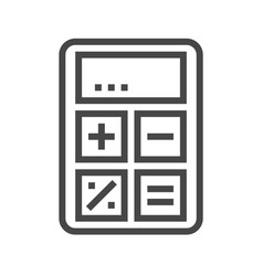 calculator thin line icon vector image